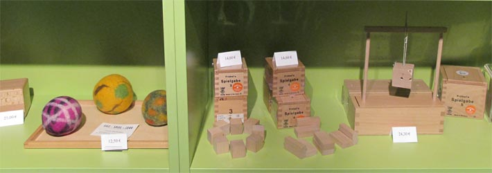 Spielzeuge im Museumsshop